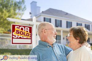 senior couple selling their house