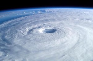 Hurricane from satellite