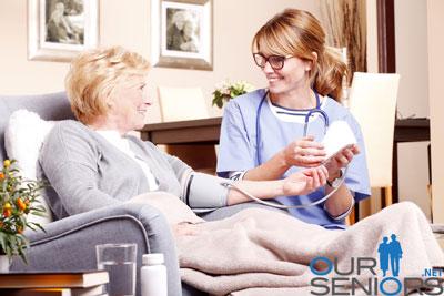 Nurse with senior patient