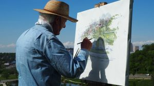 Senior painting
