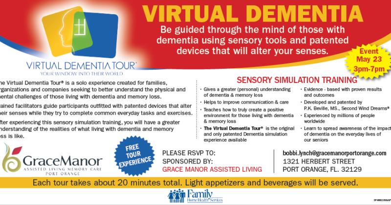 Virtual Dementia Tour Tomorrow