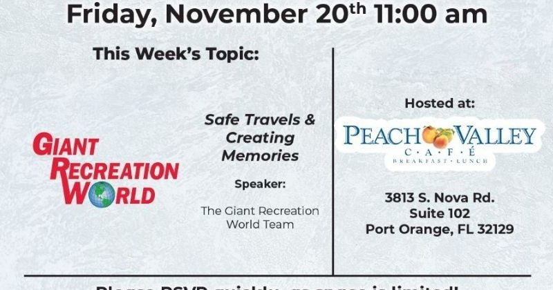 Brunch & Learn this Friday with Giant Recreational World