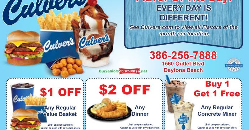 Enjoy this Coupon for Culver's